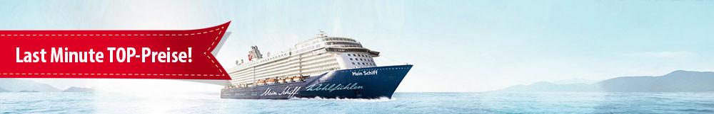 TUI Cruises Sonderpreise </br>Mein Schiff Last Minute